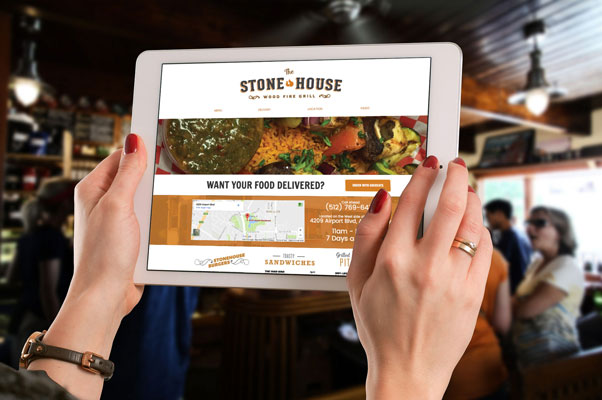 Stone House Wood Fire Grill website